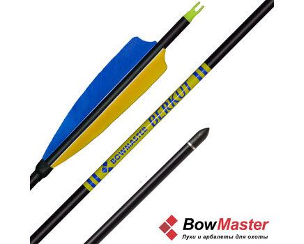 Купите стрелы для лука Bowmaster Berkut натуральное оперение 5'' Parabolic (Боумастер Беркут) в интернет-магазине
