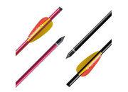 Алюминиевая стрела для арбалета (болт) Man-kung 14, 16 или 20 дюймов