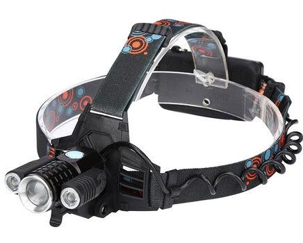 Купите налобный фонарь на велосипед UltraFire W-603 (Cree XML T6 + 2 Q5) 3500 люмен в интернет-магазине