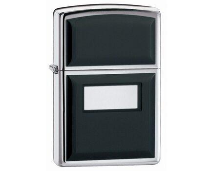 Купите зажигалку Zippo 355 Ultralite Black High Polish Chrome (зеркальный хром, накладки из черного пластика) в интернет-магазине